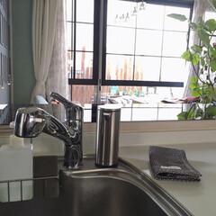 ひなたライフ/インテリア/日々の暮らし/キッチングッズ/掃除/シンプルヒューマン/... こんにちは☺︎ キッチンに新しくシンプル…