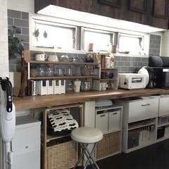 セルフリノベーション/北欧インテリア/カフェ風インテリア/すっきり暮らす/暮らしを整える/暮らしを楽しむ/... こんにちは☆ キッチンの収納の見直しをし…