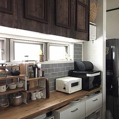 キッチン/kitchen/キッチンカウンター/整理整頓/模様替え/見せる収納/... おはようございます☺︎ 今日はあいにくの…