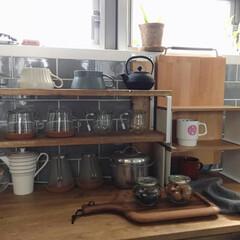 キッチン/kitchen/収納/見せる収納/食器棚/食器/... こんばんわ☆ 最近おにぎりを作ることが多…