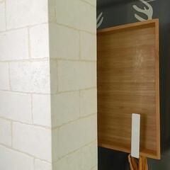 山崎実業 マグネットキッチントレーホルダー タワー 2個組 ホワイト 5050(吸盤フック)を使ったクチコミ「こんにちは☺︎ 週の始まり月曜日。 キッ…」(3枚目)
