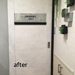 waywardworks/カッティングシート/洗面所/原状回復/ドアリメイク/リノベーション/... 洗面所のドアをリメイクしました。 マステ…