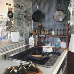 見せる収納/kitchen/キッチン/休日/日常/日々の暮らし/... おはようございます☀︎ お休みの朝ごはん…