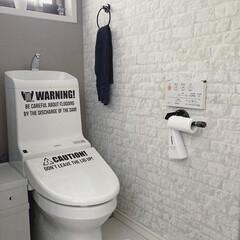 TOILET/トイレ/日々の暮らし/暮らしのアイディア/塩ビパイプDIY/waywardworks/... おはようございます。 少し前にトイレに敷…