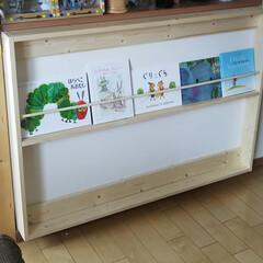ブックシェルフ/シェルフ/壁掛け/本棚/絵本/本/... 壁掛けブックシェルフ作成‼️ キッチン前…
