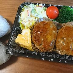 ハンバーグ/ポテトサラダ ボリュームたっぷりハンバーグ弁当(*^^…
