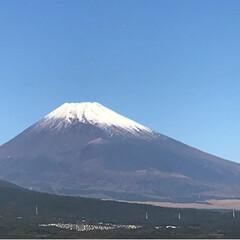富士山🗻/風景 今朝は雲ひとつない青空 空気が清々しい朝…(1枚目)