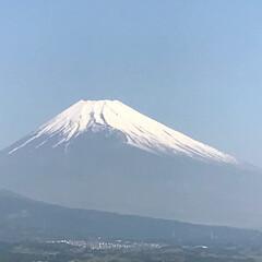 富士山🗻/晴天 おはようございます😊 今日もいいお天気☀…
