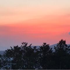 富士山🗻/夕暮れ時/夕焼け/風景/わたしのお気に入り 今日の夕暮れ時