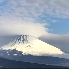 雲/富士山/風景/わたしのお気に入り 今朝の富士山🗻
