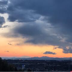 富士山🗻/夕暮れ時/風景/わたしのお気に入り おはようございます☀ 今日の富士山🗻綺麗…(2枚目)