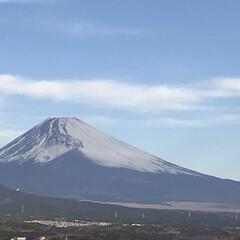 富士山🗻/冬 今朝の富士山🗻  東側に比べると西側はだ…