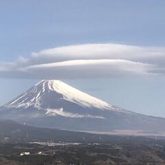 富士山🗻/笠雲/風景 今朝の富士山🗻