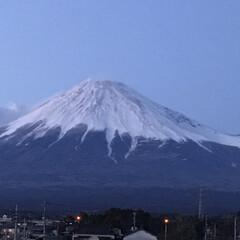 富士山🗻/夕暮れ時/おでかけ/風景/わたしのお気に入り 今日は富士市で見た 夕暮れ時の富士山🗻