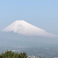 富士山 今朝の富士山🗻 雲ひとつない青空☀️ 富…