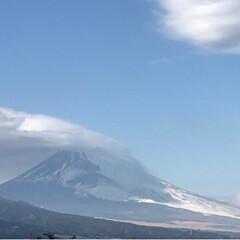 富士山🗻/笠雲/風景 今日の富士山🗻 午後から雨予報 やっぱり…