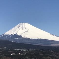 富士山🗻/青空/晴天/風景/わたしのお気に入り 雲ひとつない青空☀️ 綺麗に富士山🗻見え…