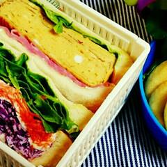 毎日/具だくさん/サンドウィッチ/彩り/愛情/お弁当