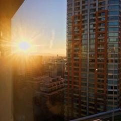 空/がんばろうの一枚/夕日/いい天気/今日も良い天気/景色最高/... 今日の夕日🌇 平凡な一日でもどこかしらに…