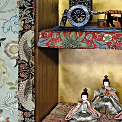 ウィリアムモリス/和室 雛人形コーナーをウィリアム・モリスで飾っ…