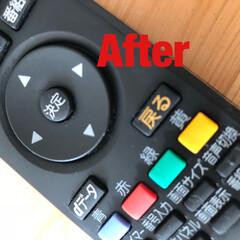お家をみがこう/laku/シンプルライフ/お掃除/トイレ/お風呂場/... テレビのコントローラーのお掃除をしました…(1枚目)