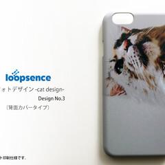 iPhone/猫/ネコ/cat/スマホカバー/スマホケース メインクーンのかっこ良さを強調したシルエ…