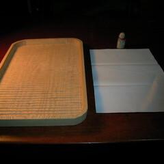 わがた盆/木の器/トレー/我谷盆/本物 紙ってる盆 まずは 半紙サイズから。