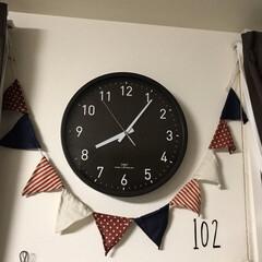 ガーランド/時計/salut!/ニトリ 現在は売ってないニトリの電波時計