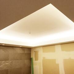 現場/大阪市/家具/西区/マンション [大阪市西区O邸]間接照明の仕込みと設備…