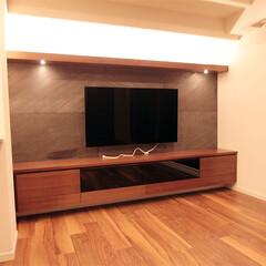 家具/収納/壁面/インテリア/デザイン ダウンライト付きの家具はまるでショールー…