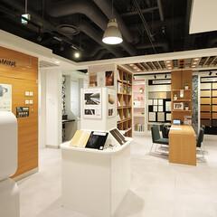 リクリエイト/家具/サンプル/ショールーム/大阪 アイカの大阪ショールームに伺いました h…(1枚目)