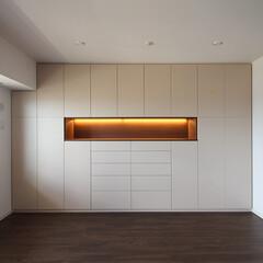 収納/壁面/家具/施工/オーダー 大阪市福島区F邸 オーダー家具 空間にし…