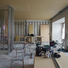 現場/工事/下地 [東大阪市M邸]軽天工事と浴室の墨出し作…