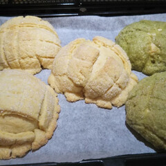 メロンパン 初めて🔰のメロンパン作り、不恰好だけど味…