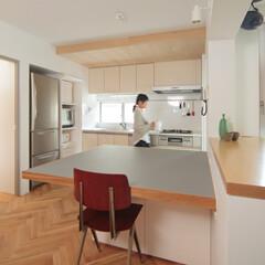 個人邸リノベーション 一部の天井は木張アクセント