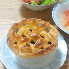 ひき肉/ミートパイ/毎日のごはん/夕ご飯 バレンタインデーに作ったミートパイです。…