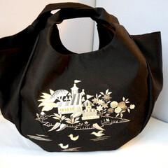 ハンドメイド/着物リメイク/手作りバッグ/創作バッグ/霧夢桜/キモノ着るなら/... 萌え萌えな着物バッグ☆かわいい刺繍のあひ…
