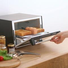 マーナ/MARNA/トースト/パン/朝食/暮らし/... 水に浸してからトースターに入れ、パンと一…