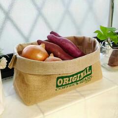 ジュートベジサック/野菜ストッカー/セリア/キッチン/キッチン雑貨 最近のお気に入りはSeriaのジュートベ…