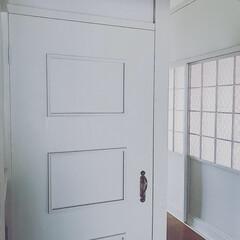 真鍮/ブラス/ドアリメイク/ホワイトインテリア/シャビーシックインテリア/DIY/... 🌹 ・ 開かずの扉に ブラス製ドアハンド…