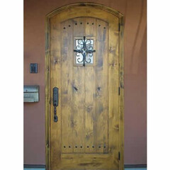 アンティーク/木製ドア/木製玄関ドア/無垢/無垢ドア/アルダー/... アンティーク調に仕上げました無垢ドアです…