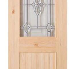 木製ドア/内部ドア/アメリカンハウス/輸入建材/おしゃれドア/ガラスドア シベリアの森から良質な節有りパインを使っ…
