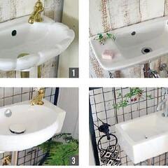 ウォールハングシンク/洗面ボール/壁掛け/陶器/洗面台/輸入建築/... 壁掛けタイプの洗面ボールのご紹介です。 …