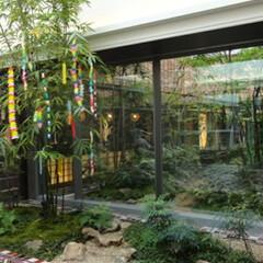 庭/ガーデニング/観葉植物/ナチュラル/装飾/デコラティブ/... 和風庭園。竹に短冊をつけるだけで七夕飾り…