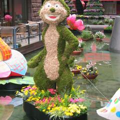 庭/ガーデニング/生花/ナチュラル/装飾/デコラティブ/... 生花の色を生かして造形したお花のサルは表…