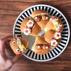 パン好き/ランチ/サンドイッチ/ごはん/子どもが喜ぶ/かわいい/... お昼ごはん。 新発売のpascoのゆめち…(1枚目)