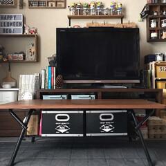シンプル/折りたたみテーブル/テーブル/お気に入り/お値段以上ニトリ/センターテーブル/... リビングのセンターテーブル。 最近ニトリ…