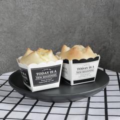 手作りパン/食事情/ダイソー/100均/キッチン雑貨/キッチン/... スイーツ用の紙型でチーズ入りの小さなパン…