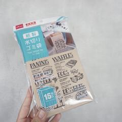 ダイソー/100均/キッチン収納/キッチン雑貨/収納/キッチン/... 紙袋なのにシンクに置けちゃう水切りゴミ袋…(1枚目)