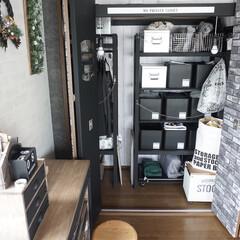 クローゼット/DIY/雑貨/セリア/インテリア/家具/... クローゼット内に棚がなかったので、DIY…